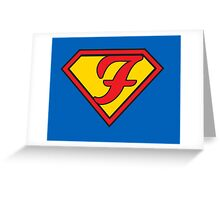 Super F Greeting Card