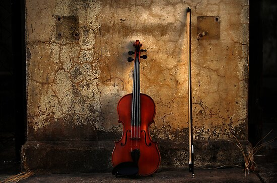 Violin and Bow by Jeff Davies
