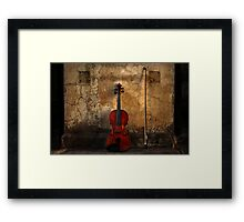 Violin and Bow Framed Print