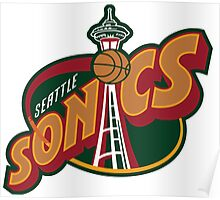 Seattle Supersonics Poster