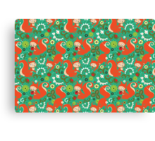 Nutty Squirrel Pattern  Canvas Print