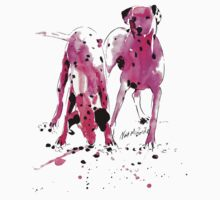 Pink Dalmations by Neil McBride Kids Clothes