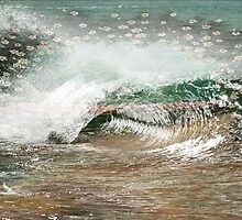 Flowers in the wave by michelleenright
