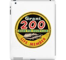 Grant 200 MPH Club iPad Case/Skin