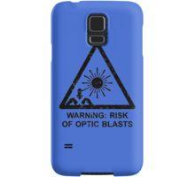 Warning: Risk Of Optic Blasts Samsung Galaxy Case/Skin
