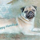 "Pug ""Happy Hanukkah"" ~ Greeting Card by Susan Werby"