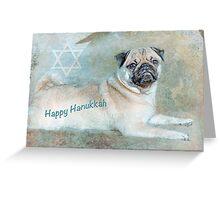 "Pug ""Happy Hanukkah"" ~ Greeting Card Greeting Card"