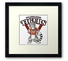 Team WHITE TIGER (red) Framed Print
