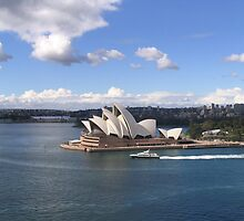 Sydney Royal Opera House From Sydney Harbour Bridge by Tanyamcaleer