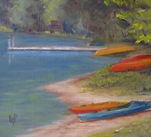 eighth lake canoes by karen pankow