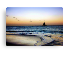 Sailng Through the Sunset Canvas Print