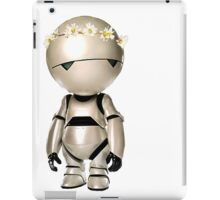 Marvin with flower crown iPad Case/Skin