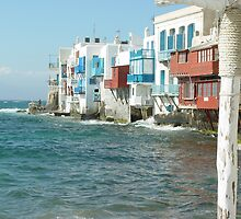 Little Venice on Mykonos, Greece by Edward Lipman