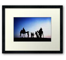 Jaisalmer Camels Framed Print