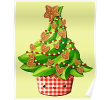 Cute Christmas Tree Poster