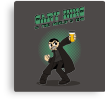 Gary King vs The World's End - Green Canvas Print