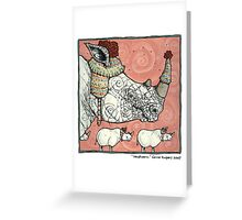 Neushoorn Greeting Card