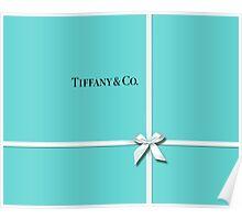 Tiffany & Co. Classic Blue Box & Ribbon Poster