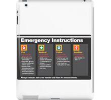 Subway Emergency Instructions iPad Case/Skin