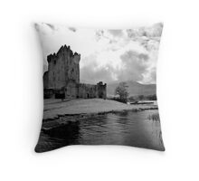 Ross Castle, Killarney, Ireland (b/w) Throw Pillow