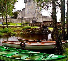 Boats at Ross Castle, Killarney, Ireland by ThomasMaher