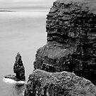O&#x27;Briens Tower at the Cliffs of Moher, Ireland (b/w) by ThomasMaher