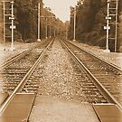 #138  Train Tracks In Sepia by MyInnereyeMike