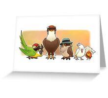 Bird Fortress Greeting Card