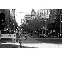 Swanston Street Melbourne Photographic Print