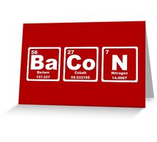 Bacon - Periodic Table Greeting Card