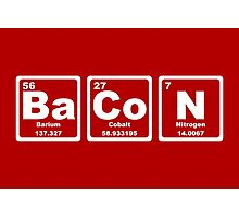 Bacon - Periodic Table Photographic Print