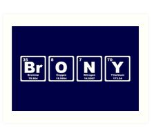 Brony - Periodic Table Art Print