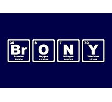 Brony - Periodic Table Photographic Print