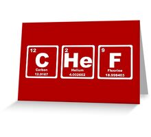 Chef - Periodic Table Greeting Card