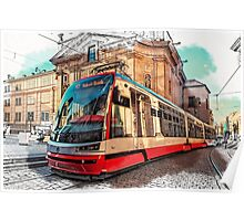The Tram of Wishes. Prague Poster