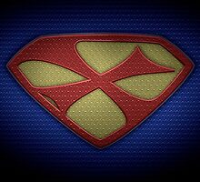 """The Letter X in the Style of """"Man of Steel"""" by BigRockDJ"""