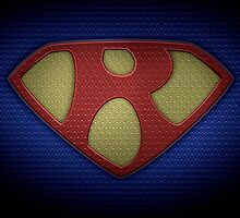 """The Letter R in the Style of """"Man of Steel"""" by BigRockDJ"""