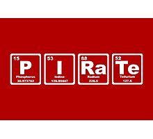 Pirate - Periodic Table Photographic Print