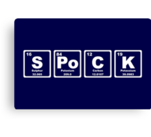 Spock - Periodic Table Canvas Print