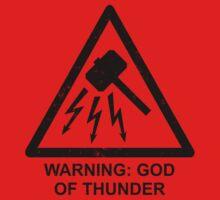 Warning: God of Thunder Kids Clothes
