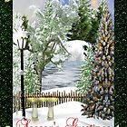 Season's Greetings Christmas Card by Vickie Emms