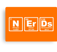 Nerds - Periodic Table Canvas Print