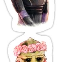 Flower Effect - Tali, Thane Sticker