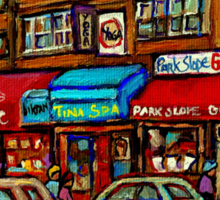 PAINTINGS OF NEW YORK PARK SLOPE CITY SCENES  Sticker