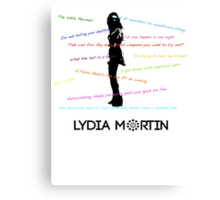 Lydia Martin Quotes Canvas Print
