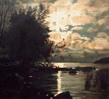 Reflection of The Moon by Jarmo Korhonen