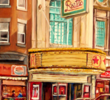 CANADIAN ART CANADIAN PAINTING FAMOUS MONTREAL RIALTO MOVIE THEATRE BY CANADIAN ARTIST CAROLE SPANDAU Sticker