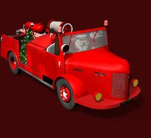Santa Claus Driving A Fire Truck by Mythos57