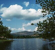 Looking across Rydal Water Rydal Lake District England 198405200016  by Fred Mitchell