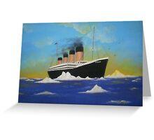 Titanics last voyage Greeting Card